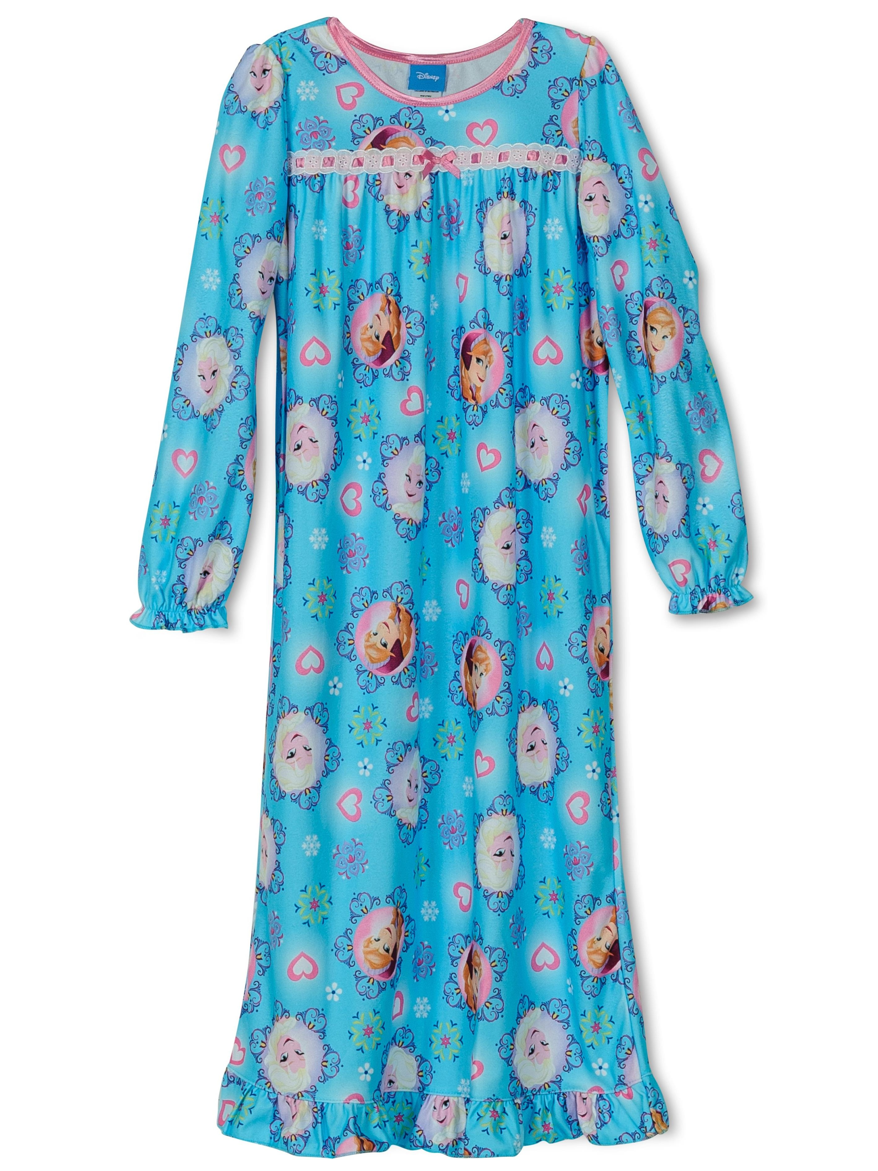 Girls' Long Sleeve Nightgown Pajamas, Sizes 2-16