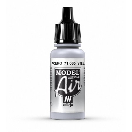 Brushed Steel Air (Steel Paint, 17ml, The pigments used for airbrush colors are ground to the finest possible consistency By)