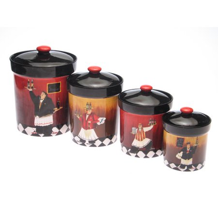 (Fleur De Lis Living Isabel 4-Piece Kitchen Canister Set)