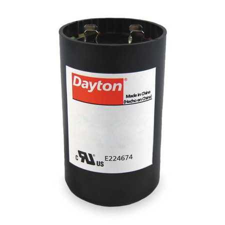 Motor Start Capacitor,165V,4-3/8 In. H DAYTON 6FLV5