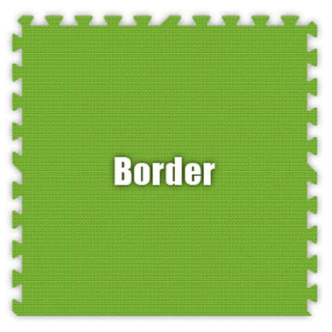 Alessco SFLG0202B 2 ft. x 2 ft. x .63 in. Border - Lime Green