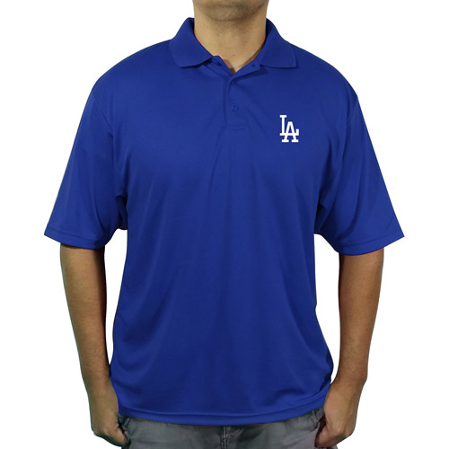 MLB LA Dodgers Big Men's poly polo shirt