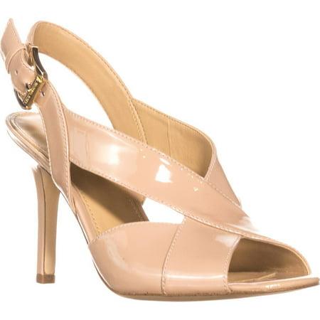 Womens MICHAEL Michael Kors Becky Cross Strap Dress Sandals, Light Blush Michael Kors Womens Dress Sandal