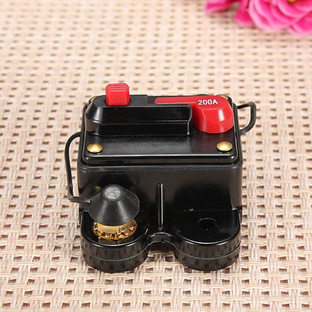 200A 12V-24V Car Marine Bike Boat Stereo Audio Circuit Breaker Inline Replace Fuse 80mmx50mmx40mm - image 2 de 3