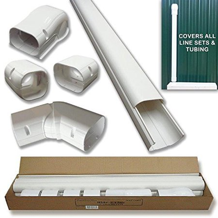 Mini split and Central Air Conditioner & Heat Pump Line Set Cover Kit - 14 (Used Central Heat And Air Units For Sale)