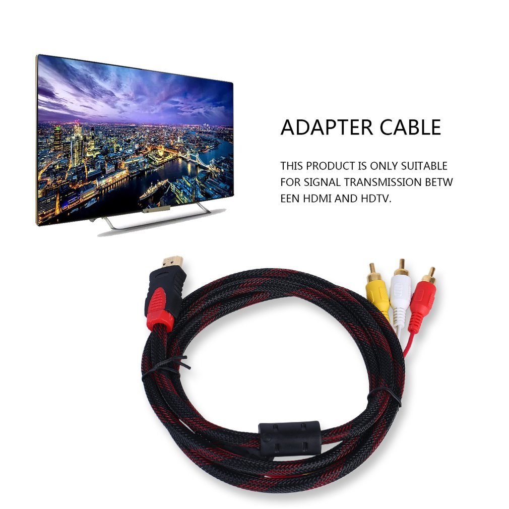 HDMI To 3 RCA Cable High Quality Male Adapter Converter Cable For HDTV 1.5m
