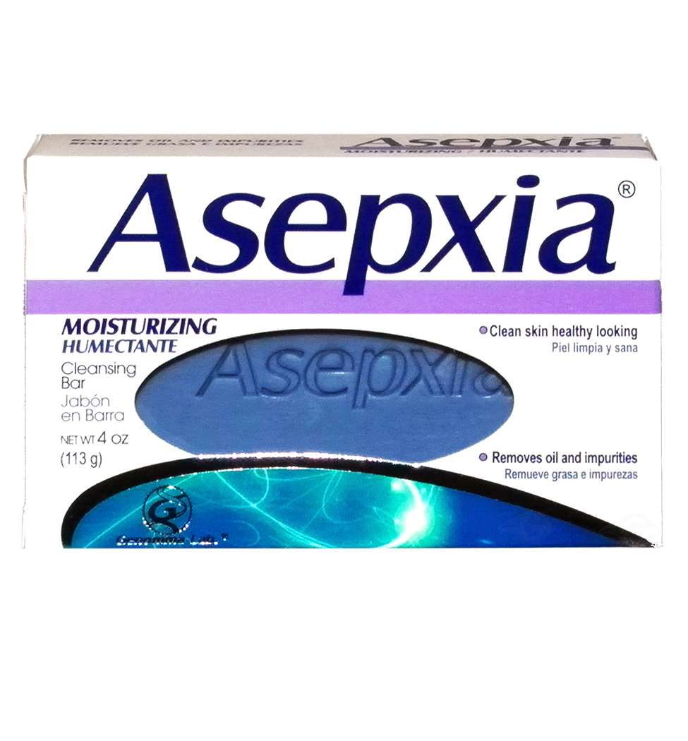 Asepxia Soap Moisturizing (purple) 3.53 oz - Jabon Humectante Morado (Pack of 1)