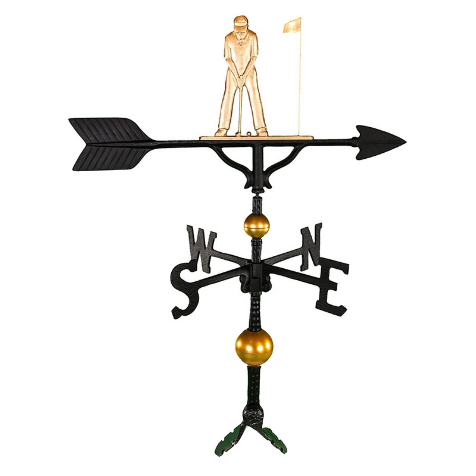 Deluxe Gold Putter Weathervane 32 in. by Montague Metal Products Inc.