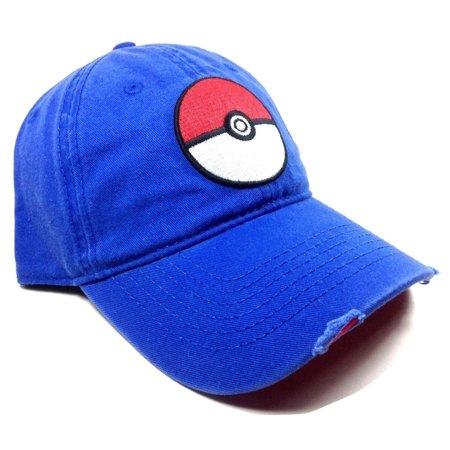 17bbe3d67bb Pokemon - Baseball Cap - Pokemon - Pokeball Dad Hat Hat Licensed ba3xvipok  - Walmart.com