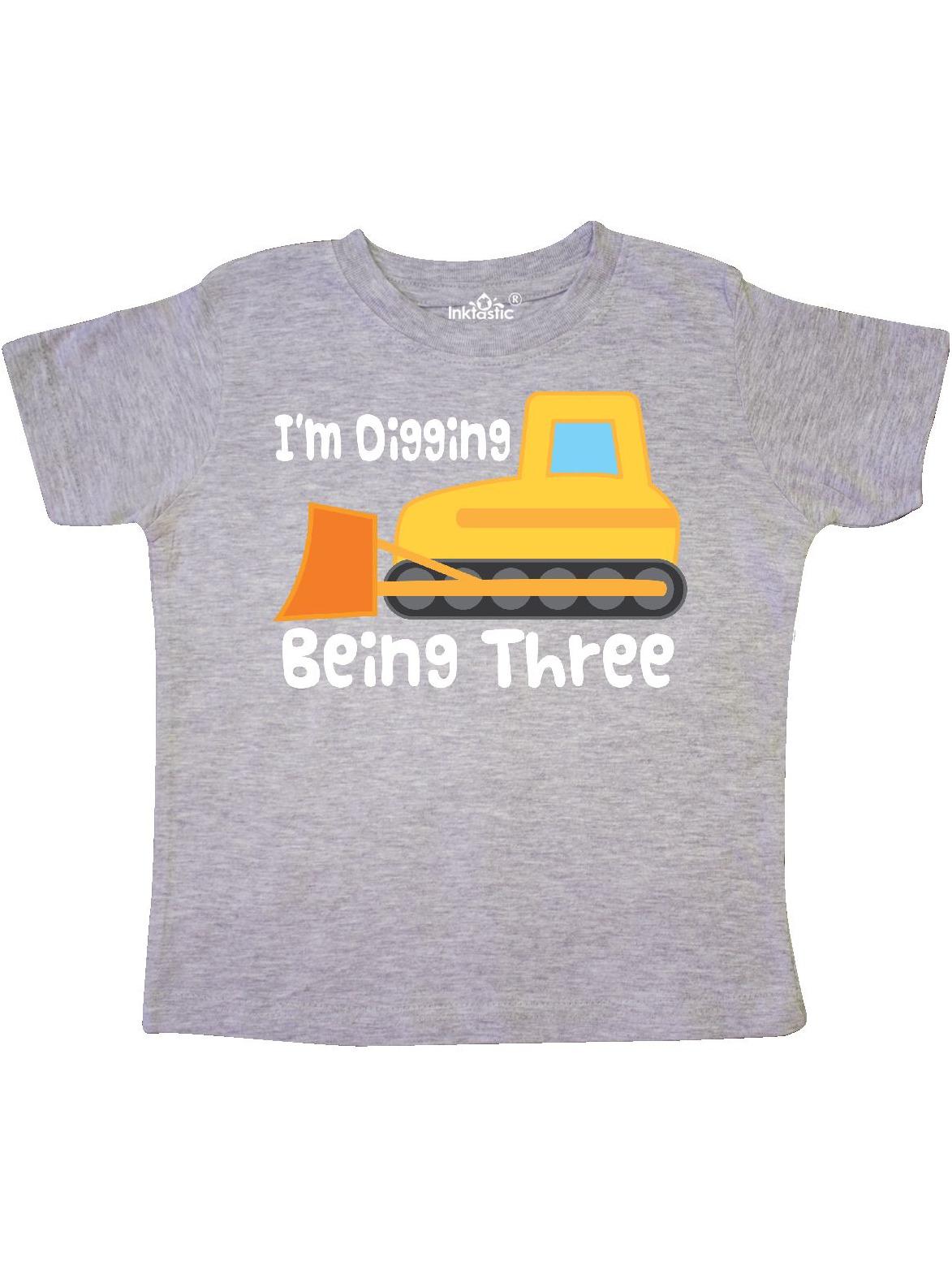3 Year Old Birthday Bulldozer Toddler T-Shirt