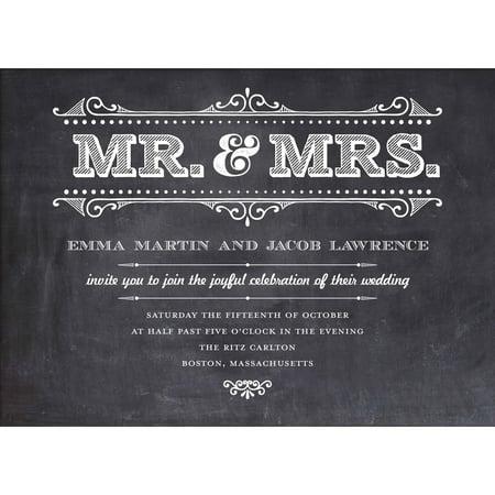 Mr and Mrs Rustic Standard Wedding Invitation (Sunflower Wedding Invitations)