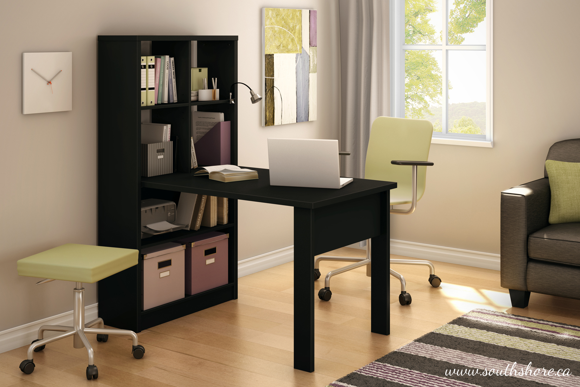 South Shore Annexe Craft Table and Storage Unit Combo, Multiple Finishes by South Shore