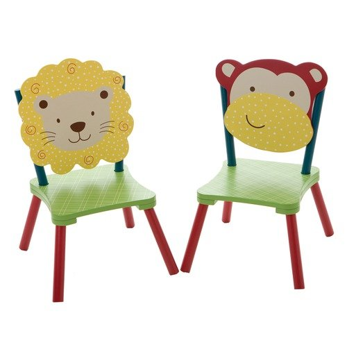 Levels of Discovery Jungle Jingle Kid's Desk Chair (Set of 2)