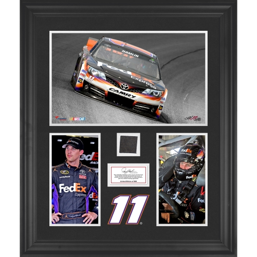 Denny Hamlin Fanatics Authentic Framed 3-Photograph Collage with Race-Used Tire-Limited Edition of 500 - No Size