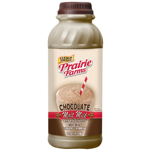 Prairie Farms Low Fat Chocolate Malt Milk, 16 oz