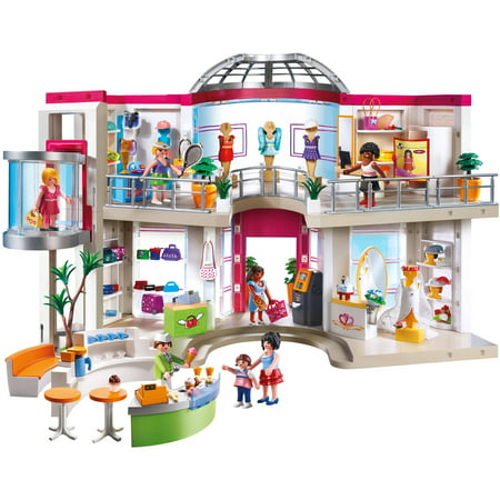 Playmobil furnished shopping mall for Piscine playmobil