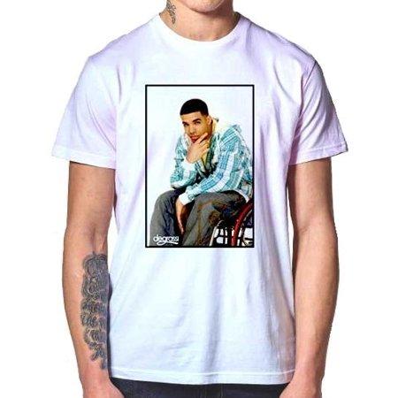 Degrassi Drake Mens White Shirt (Degrassi Tshirt)