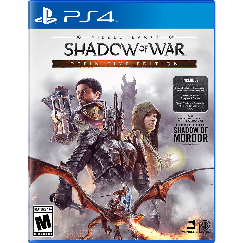 Middle Earth: Shadow Of War Definitive Edition, Warner Bros, PlayStation 4, 883929654291