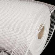 "Silver White Deco Mesh Craft Ribbon 6.5"" x 120 Yards"