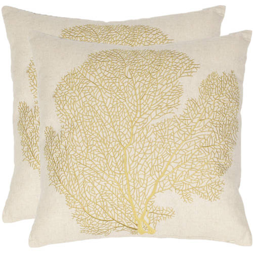 Safavieh Spice-Fan Coral Pillow, Set of 2