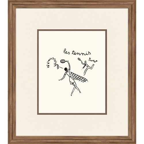 Melissa Van Hise Le Tenis Framed Graphic Art