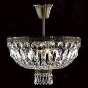 "Worldwide Lighting W33087b16 Metropolitan 3 Light 16"" Semi-Flush Ceiling Fixture - Bronze"