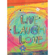 """Well Street by Lang """"Live, Laugh, Love"""" Mini Garden Flag, 12"""" x 18"""""""