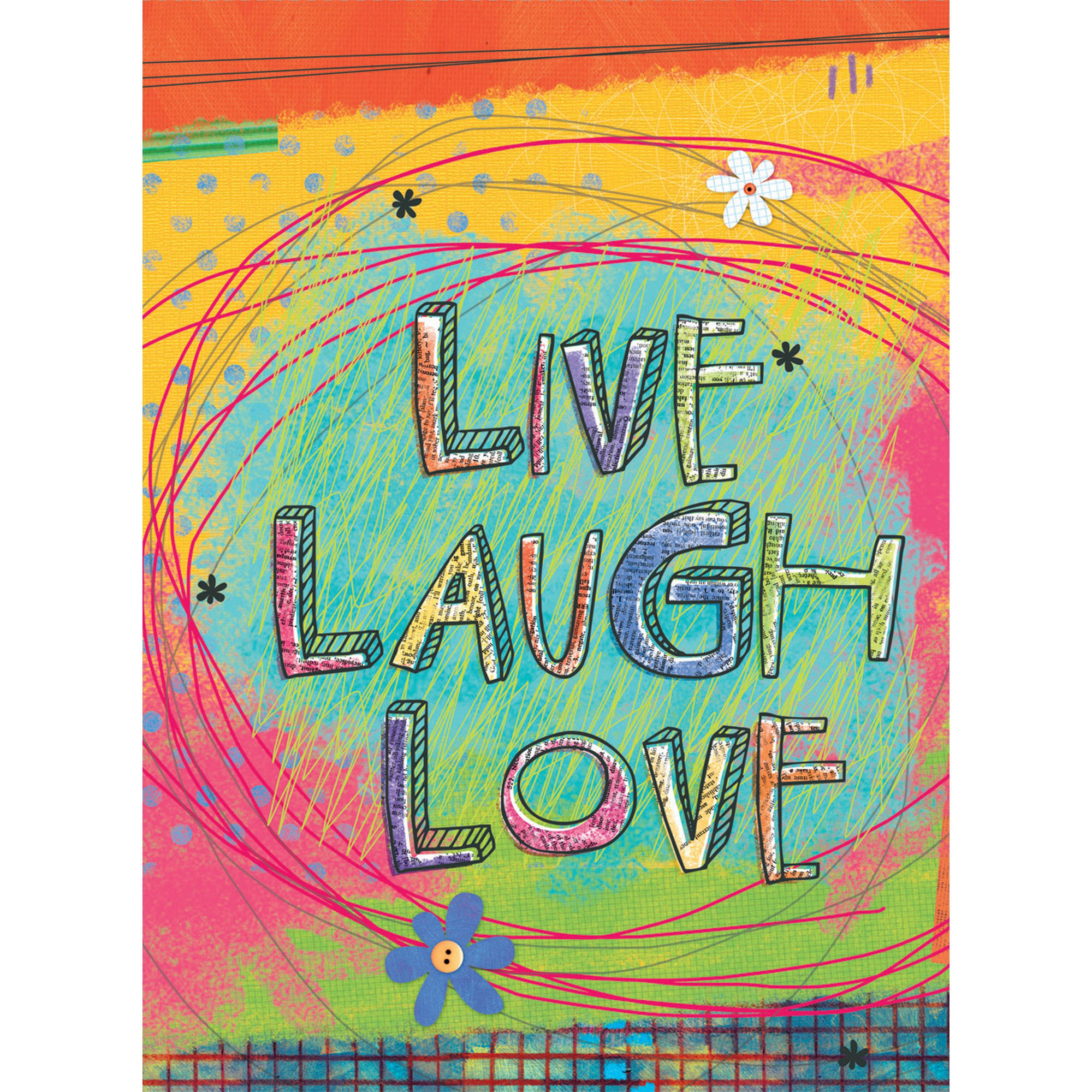 "Well Street by Lang ""Live, Laugh, Love"" Mini Garden Flag, 12"" x 18"""