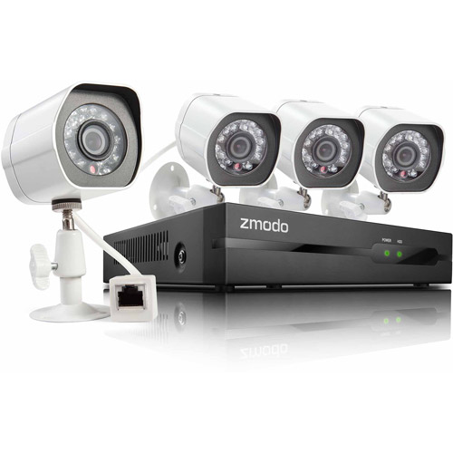 Zmodo 4-Channel 720p Simplified PoE NVR System with 2TB Hard Drive