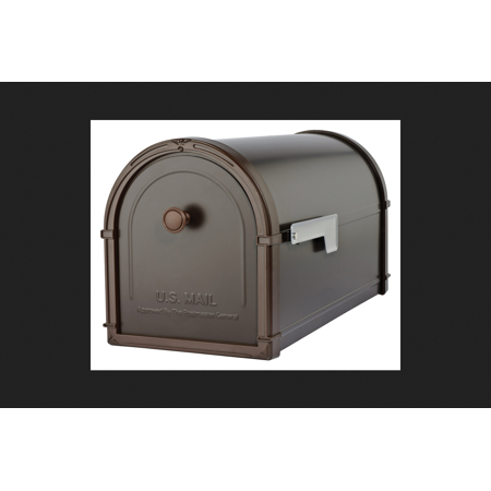 Architectural Mailboxes Bellevue Modern Galvanized Steel Post Mounted Rubbed Bronze Mailbox -