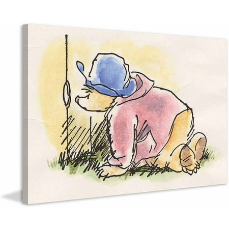 Paddington Bear Peekaboo Art Print on Premium Canvas
