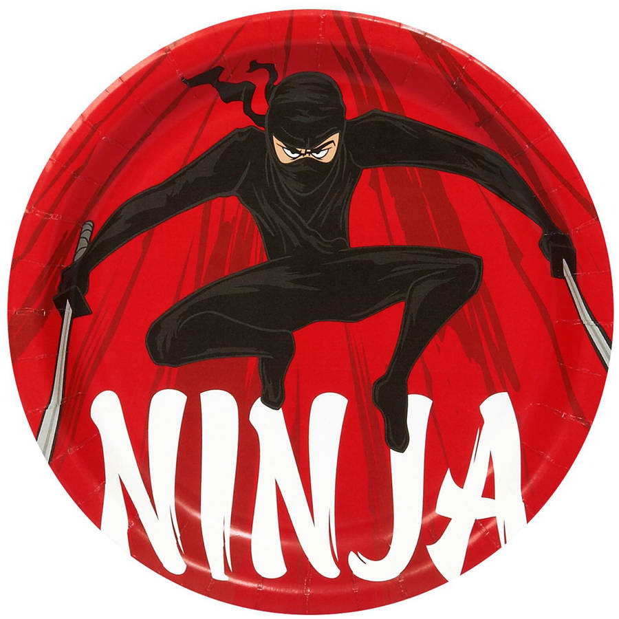Ninja Warrior Party Dinner Plates, 8pk