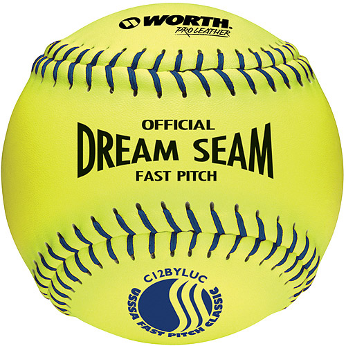 "Worth Pro Leather Official USSSA Dream Seam Fastpitch Softball-12"" - 1 Dozen"