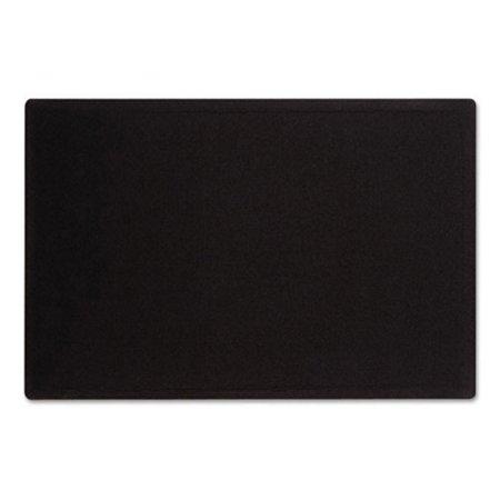 "Quartet Oval Office Fabric Bulletin Board, 36"" x 24"", Black"