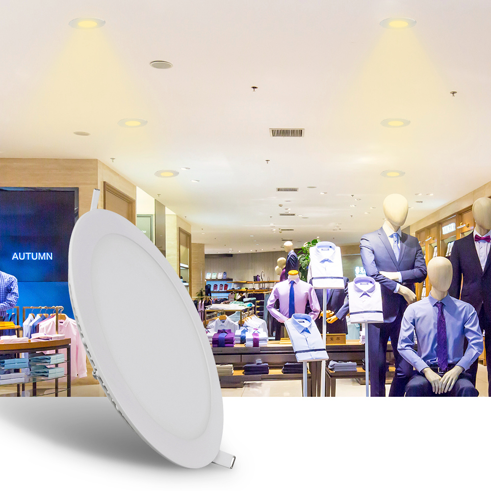 6W 9W 12W 15W Round LED Recessed Ceiling Panel Down Light Bulbs