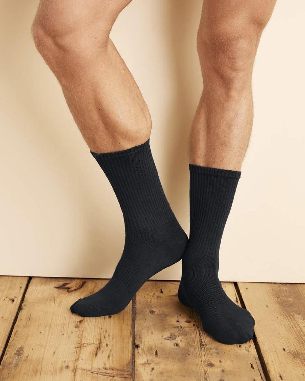 Gildan GP751 Adult Platinum Crew Socks - Black - One Size