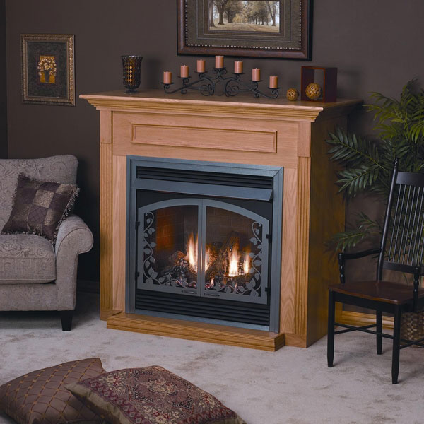 Standard Corner Cabinet Mantel EMBC5SC with Base - Cherry