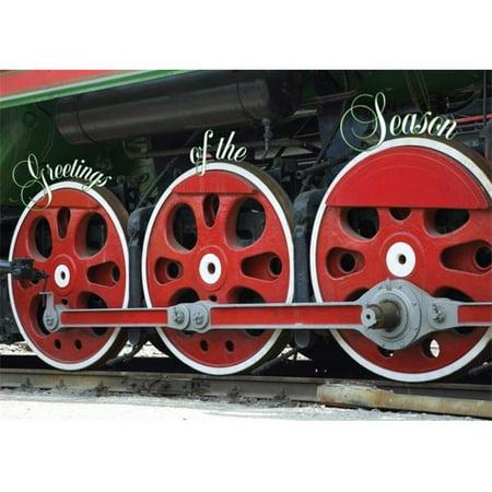 Birchcraft Studios 2118 train - vapeur r-tro - Red Envelope doubl- avec doublure blanche - Encre Rouge - Paquet de 25 - image 1 de 1
