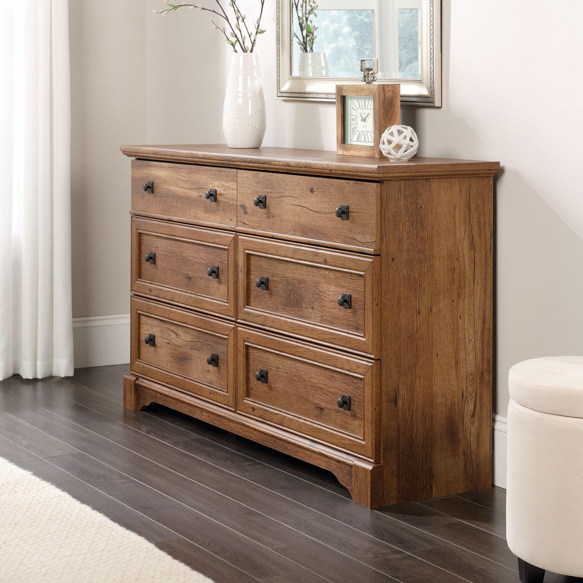 Sauder Palladia Tradtional Dresser, Vintage Oak Finish