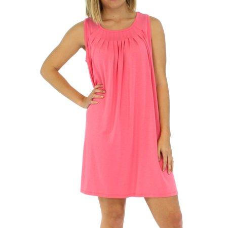 PajamaMania Women's Sleepwear Lightweight Sleeveless Nightgown