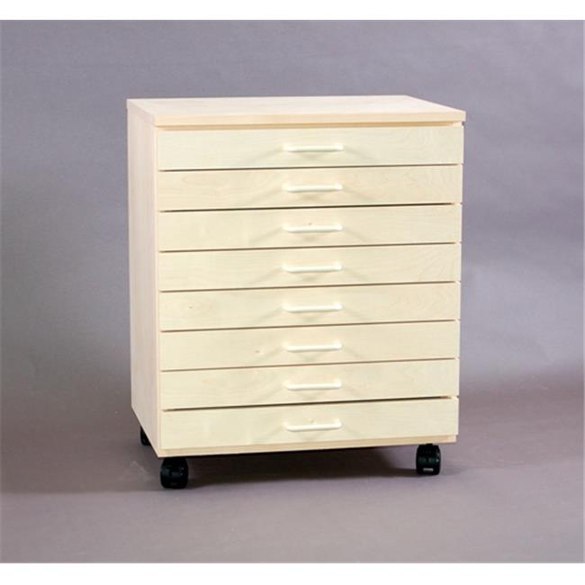 SMI TB800B Birch Taboret, 8-Drawer, Vanguard