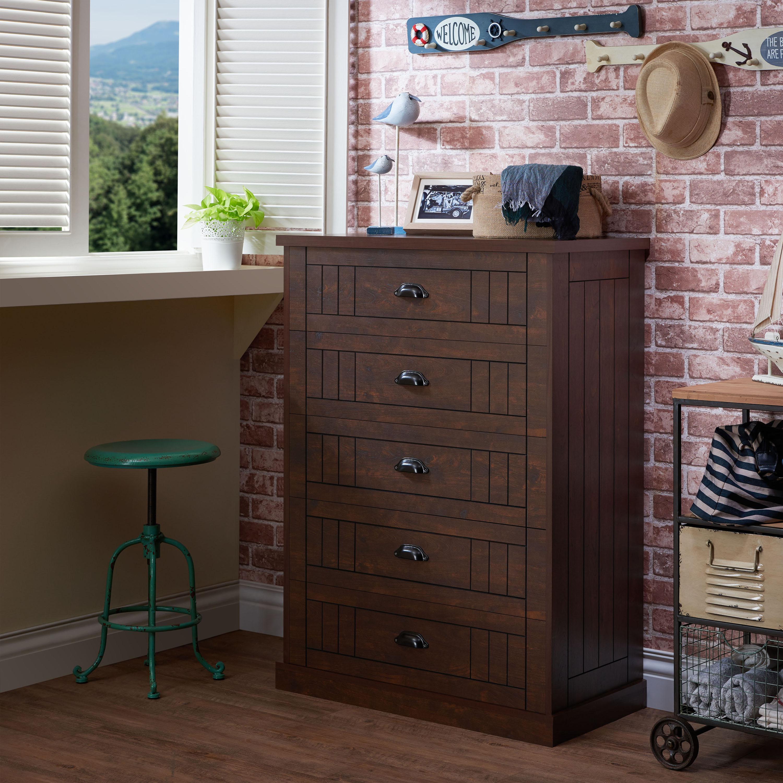 Furniture of America Kaila Rustic Chest, Vintage Walnut