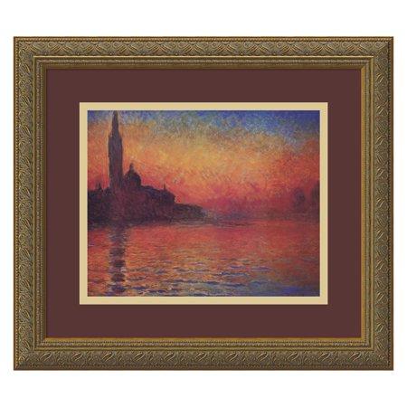 Dusk, Sunset in Venice, 1908 Framed Wall Art by Claude Monet - 16.12W x 14.12H in. Claude Monet Sunset In Venice