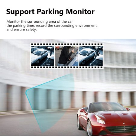 7 inch 1080P Car SUV DVR Dual Lens 2.5D Mirror Touch Screen G-Sensor Dash Camcorder - image 7 of 10