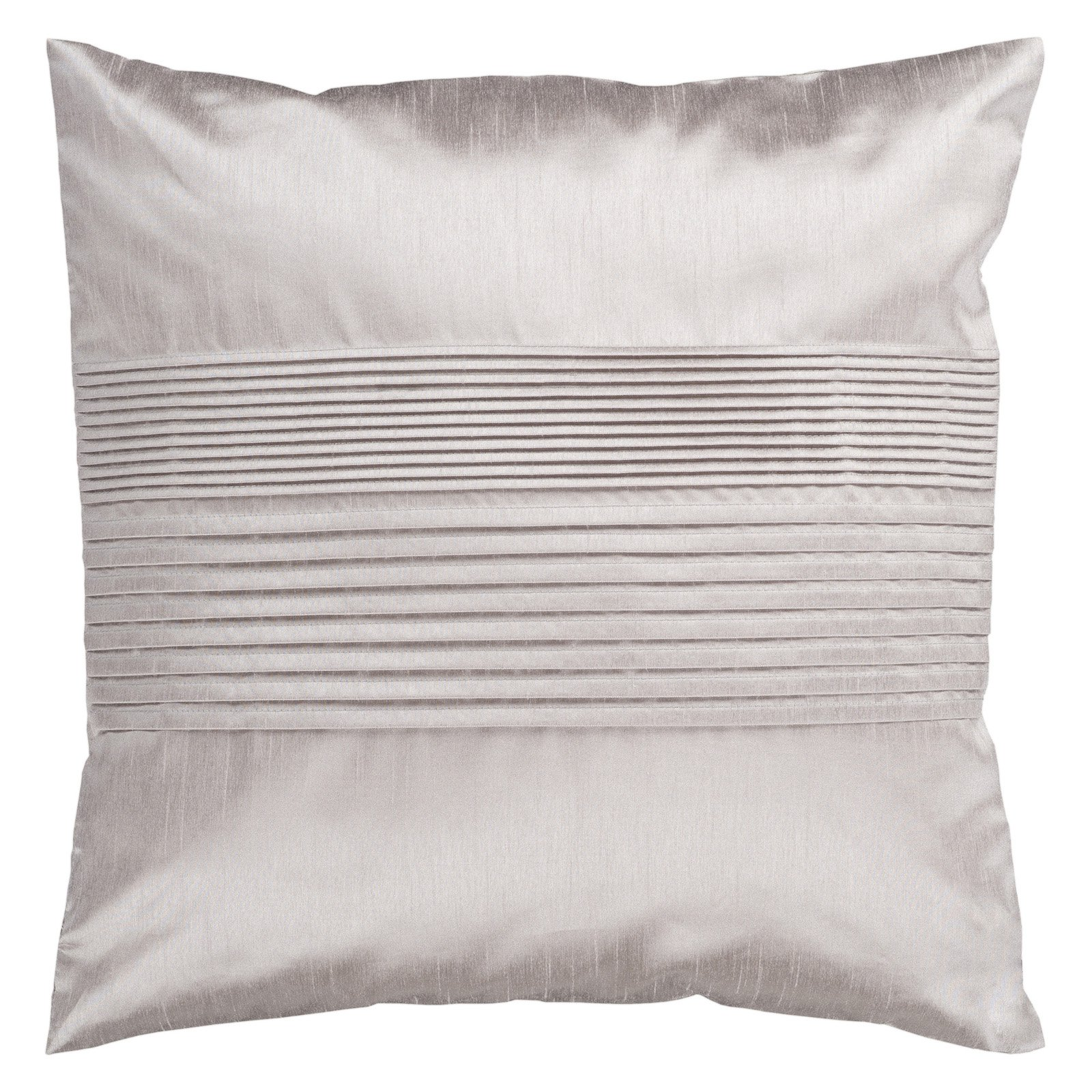 Silver Shiny Pillow with Striping HH015