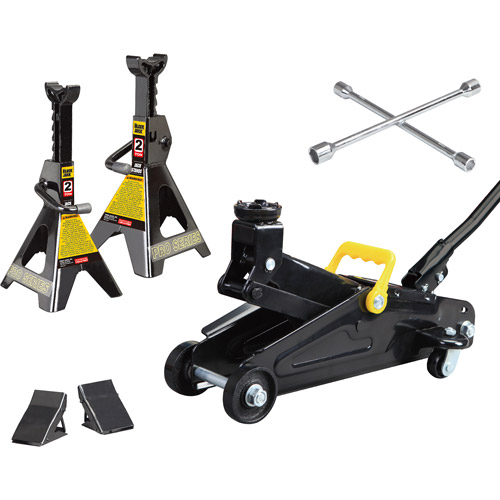 Torin 2 Ton Hydraulic Trolley Jack Garage Kit