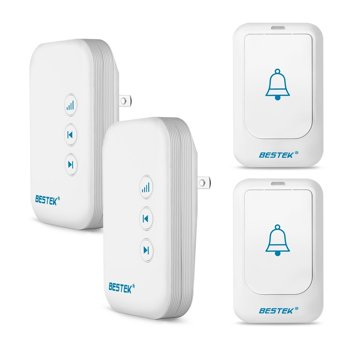 Bestek 4-Piece Wireless Doorbell Kit