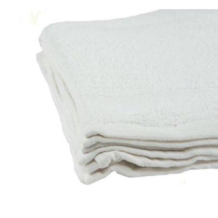 Ghp 120 Pcs White 12  X12   Cotton Terry Cloth Absorbent Kitchen Restaurant Bar Towels