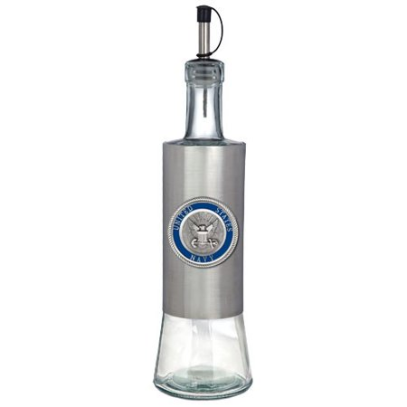 Us Navy Colored Logo Pour Spout Stainless Steel Bottle