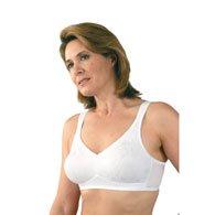 Classique 769E Post Mastectomy Fashion Bra-White-38AA (Bras 38aa)